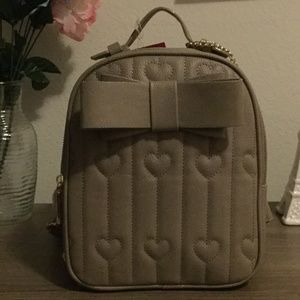 Betsey Johnson Small Backpack With Bow